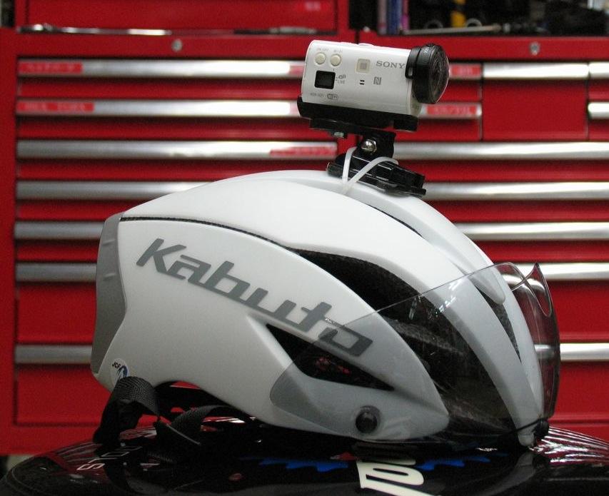IMG_9050自転車ヘルメットにアクションカム